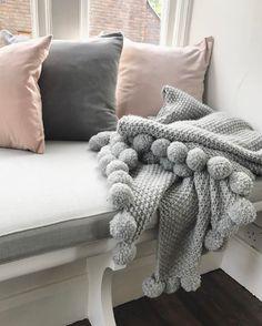 Merino Wool Blanket, Pink Grey, Bedroom, Instagram Posts, House Ideas, Home, Ad Home, Bedrooms, Homes