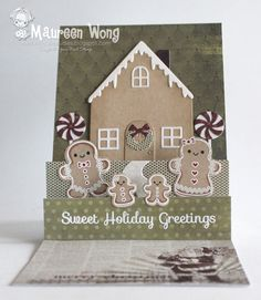 Your Next Stamp - Gingerbread House Die, Sweet Holiday Greetings #yournextstamp