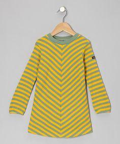 Yellow Chevron Swing Dress - Toddler & Girls by moonkids