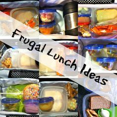 Frugal Lunch Ideas~for those parents who don't have the time or creativity to make up those fancy flower or angry bird sandwiches lol. Great ideas on this site!