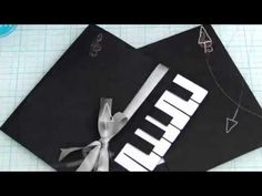 How to make a Piano Card featuring Stampin Up - YouTube
