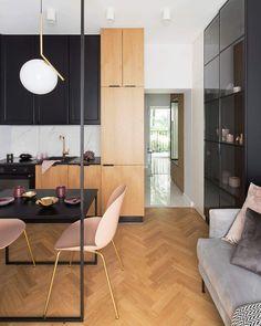 Co na podłogę w salonie z aneksem kuchennym | IH - Internity Home Rustic Salon, Home Salon, Interior Design, Wood, Modern, Table, Studio, Inspiration, Furniture