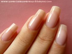 Super Cute Super Easy: How to have beautiful nails. Blogger gives great info on natural nail care...certainly working for her!