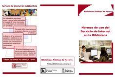 Tríptico acceso servicios de internet  Bibliotecas Públicas de Navarra