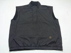 FootJoy DryJoys L Houndstooth Gray Black Golf Vest Windbreaker Men's Sleeveless #FootJoy #Vests