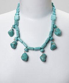 Another great find on #zulily! Turquoise Drops Necklace #zulilyfinds