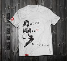 """https://www.aloft.clothing """" acro is not a crime"""" men's t-shirt, white cotton, silk screen. paragliding brand, casual line Like our page: https://www.facebook.com/AloftBoundaryLayerApparel"""