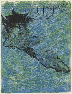 Antonio Frasconi. Sardine Fisherman I. 1955. Woodcut