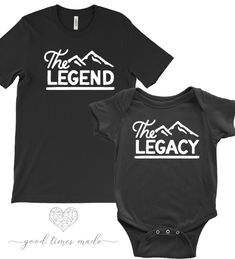 b5ccf038 Father And Son Matching Shirts, The Legend, The Legacy, Father Son Shirts,  Father Daughter Shirts, Matching Shirts by GoodTimesMade on Etsy