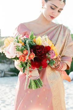 Colorful bridal bouquet | Anna Dobrydneva Photography | see more on: http://burnettsboards.com/2014/09/southeast-asian-wedding-inspiration/