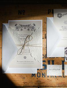 invitation suite; photograph by sophie asselin photographe