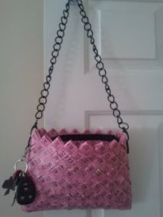 """used 14 - 5/8"""" x 60"""" PINK tape measures - MY purse :D"""