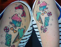 Matching Cupcake Tattoos