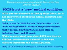 "POTS is not a ""new"" medical condition."