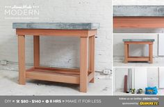 HomeMade Modern DIY EP38 Wood + Concrete Kitchen Island Postcard