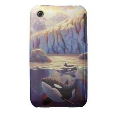 Orca Sunrise - Whales and Glaciers Case-Mate iPhone Cases