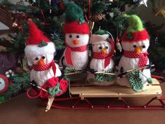 Knitting Snowmen