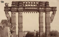 thornam The iconic Kakatiya Thoranam was built by Rudramadevi's father in the 12th Century. This ornate arch is said to have many similarities with the gateways at the Sanchi Stupa and is also the emblem of Telangana.