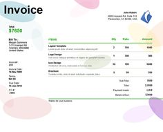 invoice template for designers