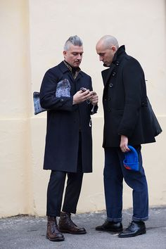 Boys out on the street - Florence. The Sartorialist