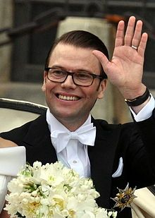 Prince Daniel, Duke of Västergötland (Swedish: Daniel, Prins av Sverige, Hertig av Västergötland, né Olof Daniel Westling; born 15 September 1973) is the husband of Crown Princess Victoria of Sweden. Prior to his marriage to the heiress apparent, Daniel was a personal trainer and gym owner and ran a company called Balance Training with three gyms in central Stockholm. His full name is Olof Daniel Westling Bernadotte as registered with the Swedish Tax Authority's national census.