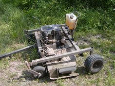 Homemade ATV implements (another new project added - Georgia Outdoor News Forum Tractor Mower, Lawn Mower, Metal Projects, Welding Projects, Garden Equipment, Outdoor Power Equipment, Atv Plow, Garden Tractor Attachments, Atv Winch