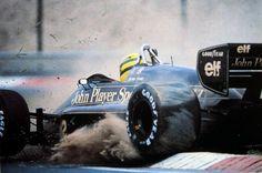 that911 | fuckyeahlotus: Ayrton Senna in the Lotus 98t at...
