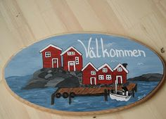 Swedish painting on wood