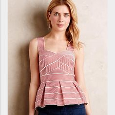 Anthropologie Cabana Peplum Tank-RARE! Sale! Gorgeous! Size M, perfect for Spring/Summer. Anthropologie Tops Tank Tops