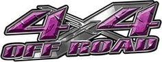 4x4 Off Road Truck, SUV, ATV Decals in Purple Diamond Plate