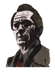 #tinkertailorsoldierspy #illustration #movie #movieart #garyoldman #print