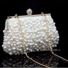 6d6325c281 Venda quente mulheres de pérolas de moda artesanais de diamante pequeno  cadeia ombro embreagem sacos de festa bolsa em Bolsas para noite de Bolsas  e malas ...