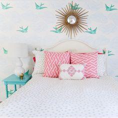 Caitlin Wilson Pink City Maze Pillows