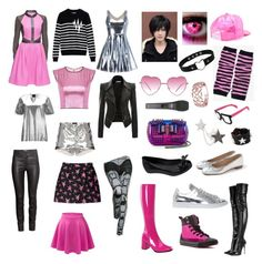 Undertale: Mettaton EX by cartoonvillian on Polyvore featuring polyvore Lattori Each X Other McQ by Alexander McQueen H&M LE3NO Funtasma Isabel Marant Alexander McQueen J.Crew Melissa adidas Christian Louboutin Givenchy Nikos Koulis Little Flower Almost Famous Converse fashion style clothing