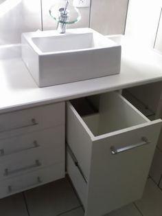 Hamper under some sink Diy Bathroom Vanity, Vanity Decor, Laundry Cabinets, Small Bathroom Storage, Small Bathroom Decor, Small Bathroom, Bathroom Design, Bathroom Decor, Sink