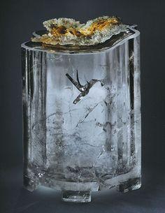 "natural ""hummingbird"" inclusion in quartz--wow!"