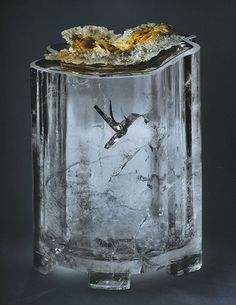 "natural ""hummingbird"" inclusion in quartz--wow!"