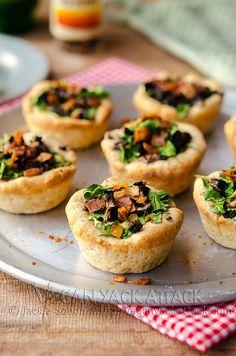 Mini Veggie Pizza Pies