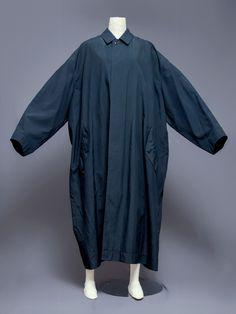 Issey Miyake Men oversized polyester coat, 1980s.