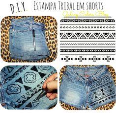 DIY | Tribal Shorts - Galaxy Colors Blog #galaxycolors