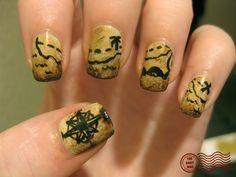 Treasure Map Nails