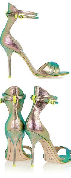Sophia Webster for J.Crew ~ Multi Metallic Sandal Heels