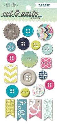 Adorbs Loved Decorative Buttons Cut & Paste Collection