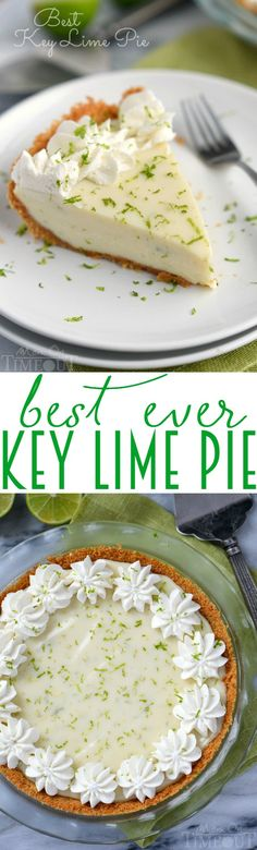 The Best Key Lime Pie recipe EVER! And so darn easy too! You won't be able to stop at just one slice! The perfect easy dessert recipe!