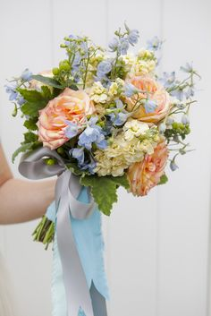 Bouquet Blueprint // stunning wild flower wedding bouquet with long flowing ribbons!