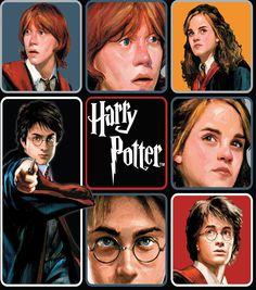 Harry Potter Comic Character Block Fleece Fabric