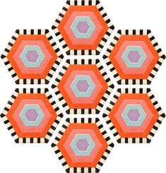 Additional view of Honeycomb Carpet - Swizzle (7 piece Hexagon)