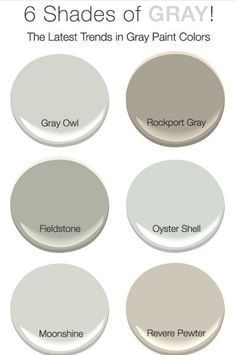 6 Shades of Gray The Best Neutral Paint Colors   Neutral paint colors  Neutral  . Great Neutral Paint Colors Benjamin Moore. Home Design Ideas