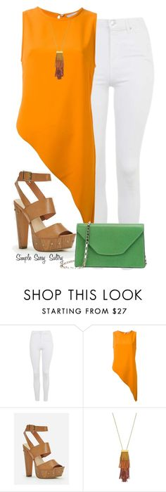 """Summers End"" by simplesassysultry on Polyvore featuring Topshop, Dion Lee, JustFab, Vince Camuto and Valextra"