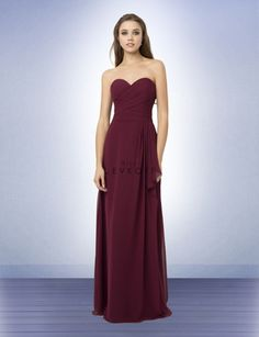53a2b59eda5f Bill Levkoff Bridesmaid Style 773 is a Chiffon strapless gown with a  sweetheart neckline. Criss